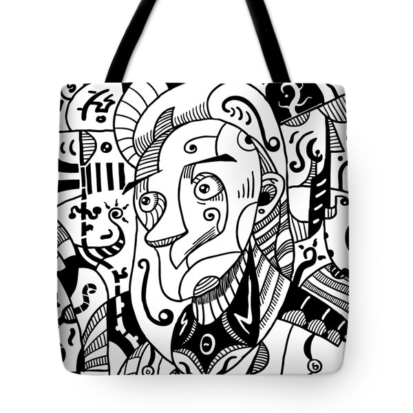 Surrealism Philosopher Black And White Tote Bag