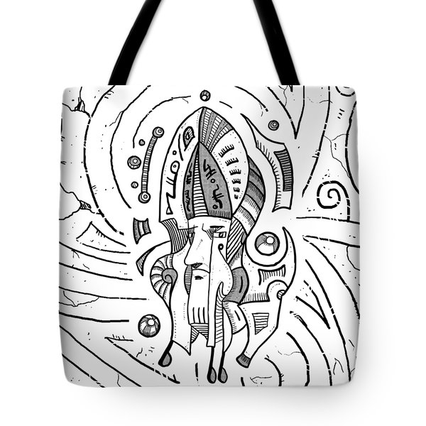 Surrealist Head Tote Bag