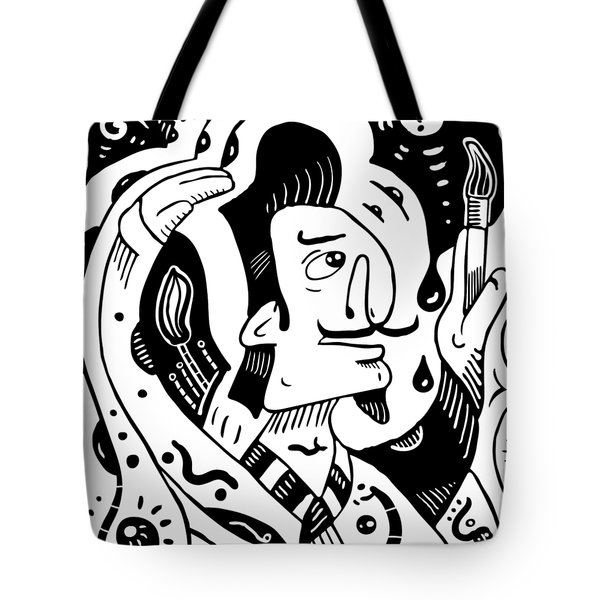 Surrealism Painter Tote Bag