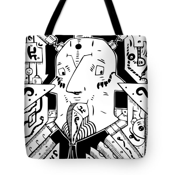 Surrealism Oil Pump Tote Bag