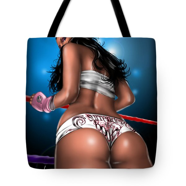 Surrender The Booty Tote Bag by Pete Tapang