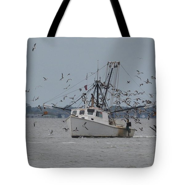 Surrounded By Gulls Tote Bag