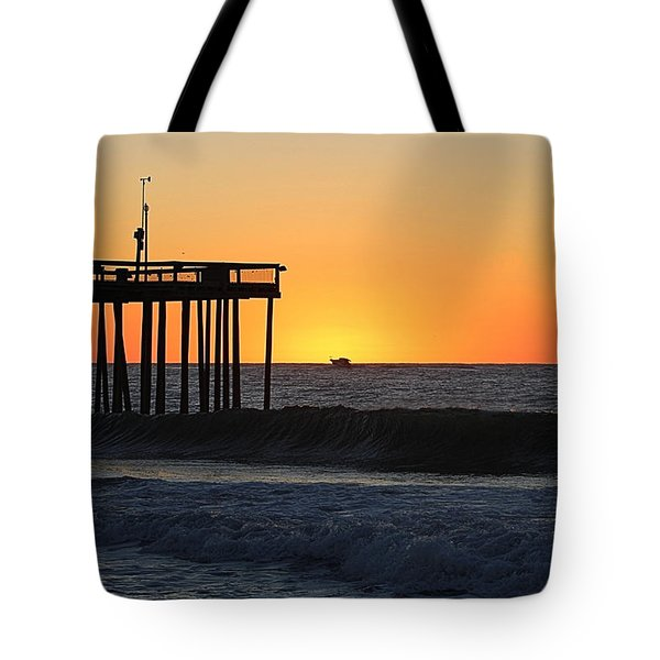 Tote Bag featuring the photograph Surrounded By Sunrise by Robert Banach