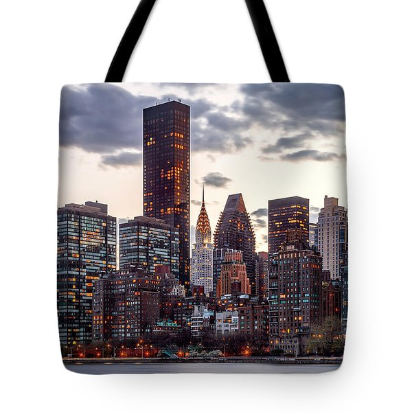 Surrounded By The City Tote Bag by Az Jackson