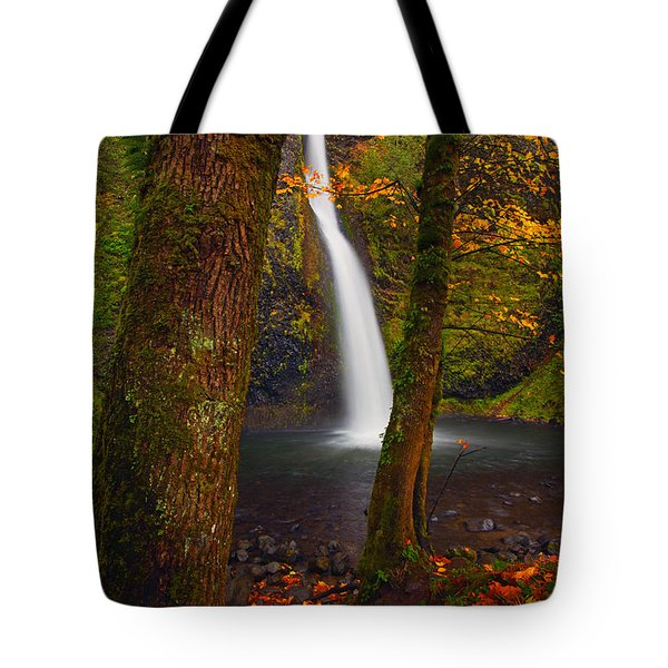 Surrounded By The Season Tote Bag by Mike  Dawson