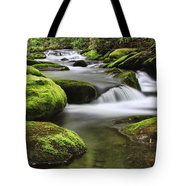 Surrounded In Green Tote Bag