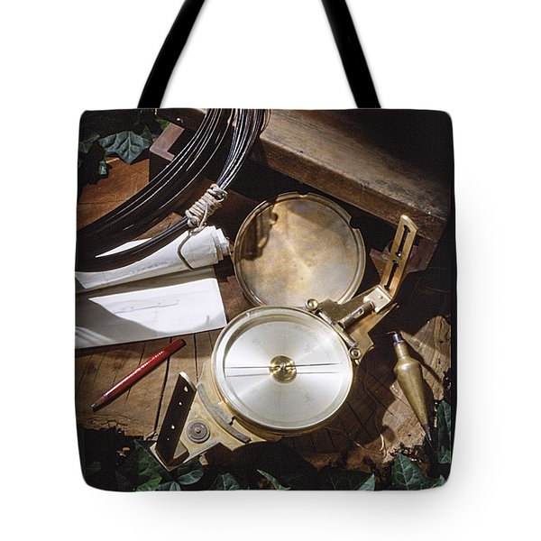 Surveyors Transit And Chain Tote Bag