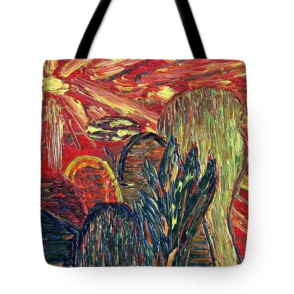 Survival In Desert Tote Bag