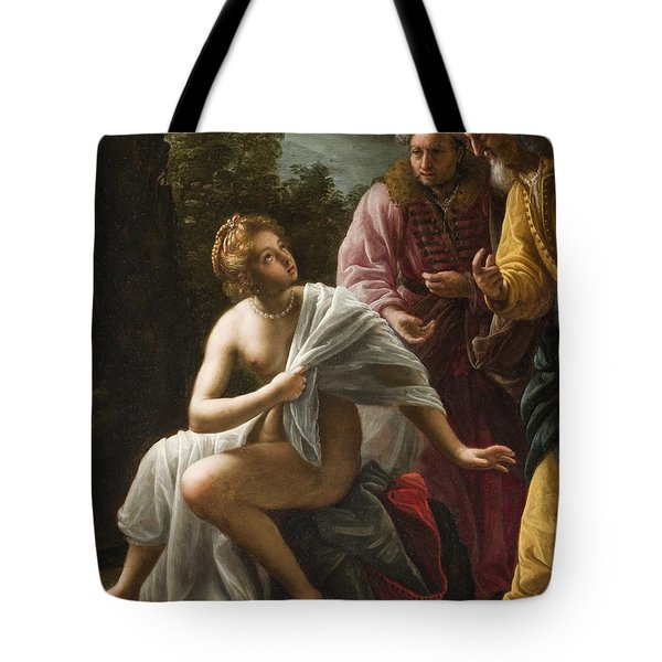 Susanna And The Elders Tote Bag by Ottavio Mario Leoni