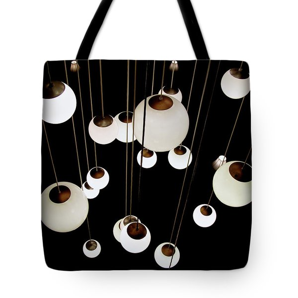 Tote Bag featuring the photograph Suspended - Balls Of Light Art Print by Jane Eleanor Nicholas