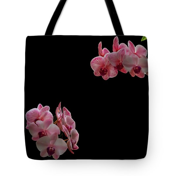 Suspended Orchids Tote Bag