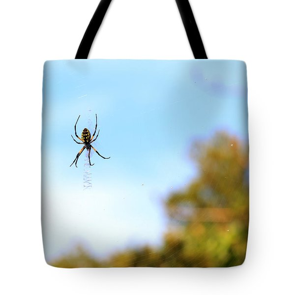 Suspended Spider Tote Bag