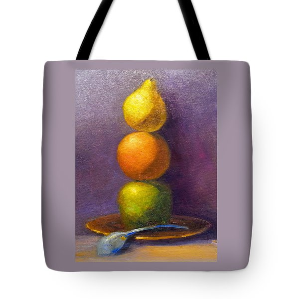 Suspenseful Balance Tote Bag