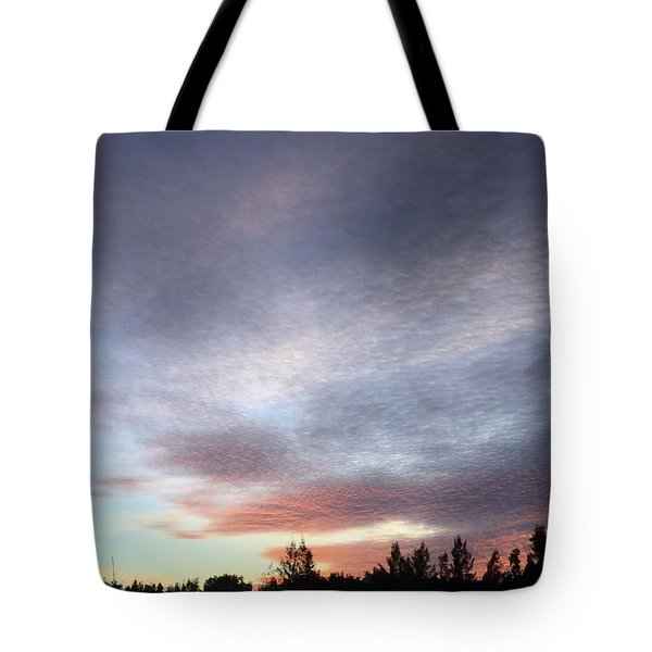 Suspenseful Skies Tote Bag by Audrey Robillard