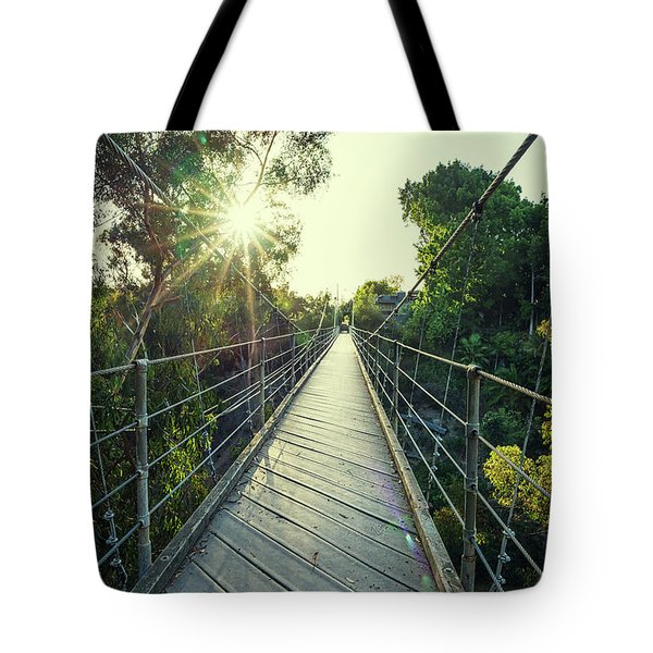 Suspension And Sunbeams Tote Bag