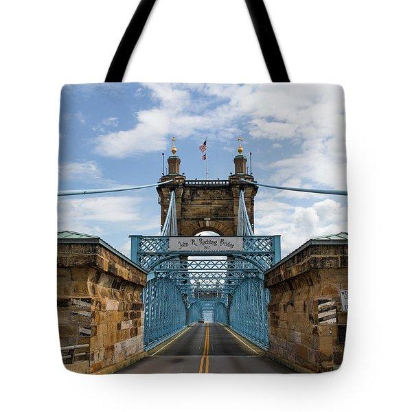 Suspension Bridge Wide Angel Tote Bag by Scott Meyer