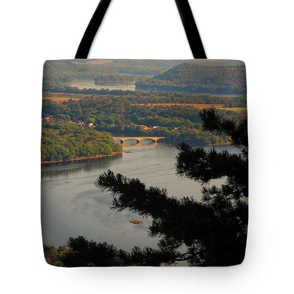 Susquehanna River Below Tote Bag