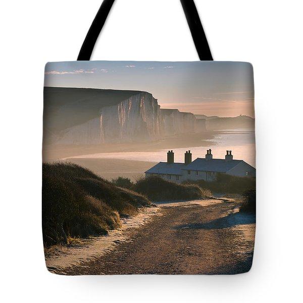 Sussex Coast Guard Cottages Tote Bag