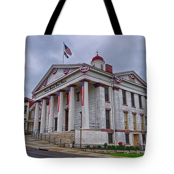 Tote Bag featuring the photograph Sussex County Courthouse by Mark Miller