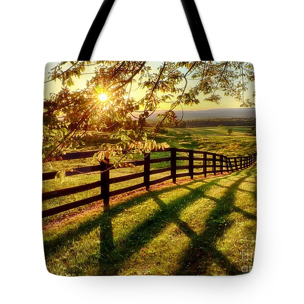 Sussex County Sunset Tote Bag