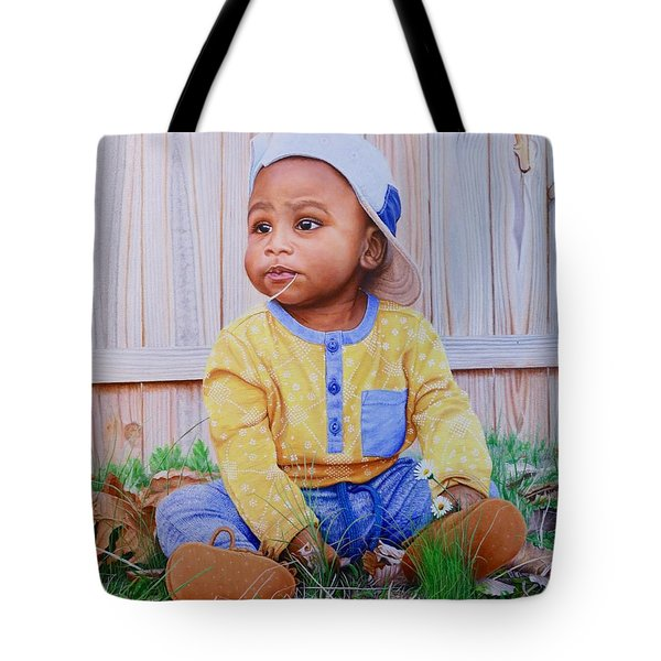 Tote Bag featuring the painting Sutton by Mike Ivey