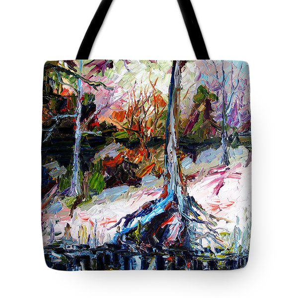 Suwanee River Black Waters Modern Art Tote Bag