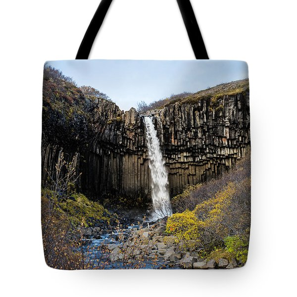 Tote Bag featuring the photograph Svartifoss by James Billings