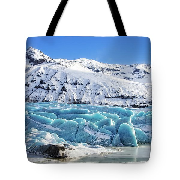 Tote Bag featuring the photograph Svinafellsjokull Glacier Iceland by Matthias Hauser