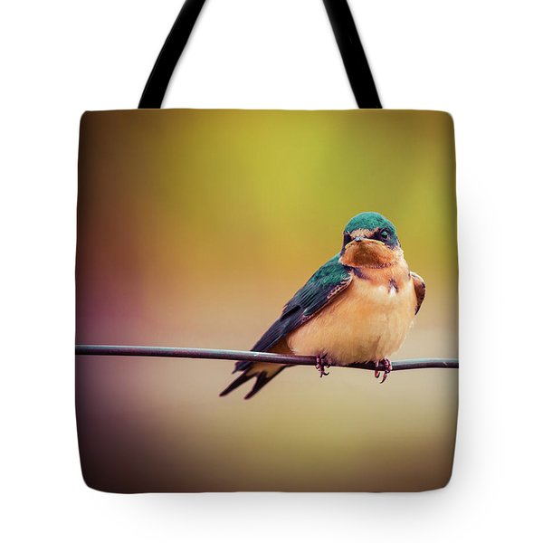 Tote Bag featuring the photograph Swallow by Mary Hone