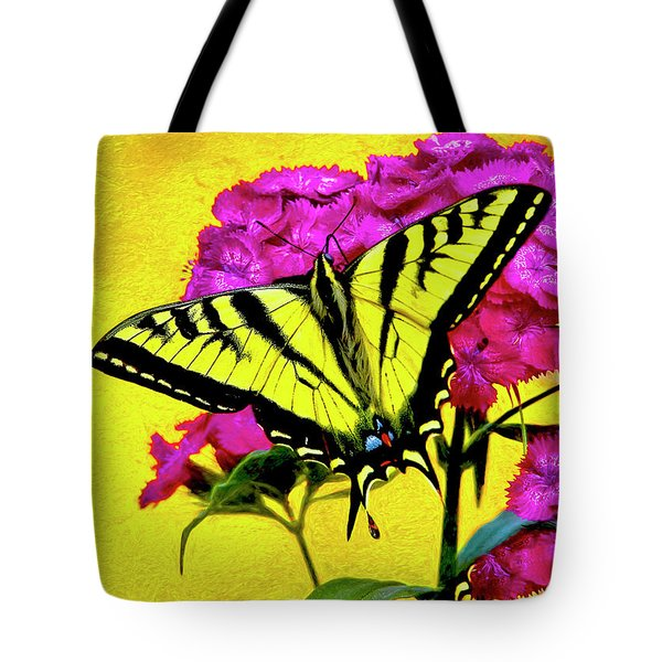 Swallow Tail Feeding Tote Bag by James Steele
