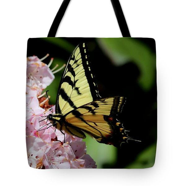 Swallow Tail On Mountain Laurel Tote Bag