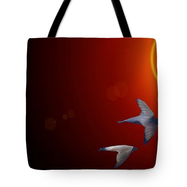 Swallows In Flight Tote Bag by George Pedro