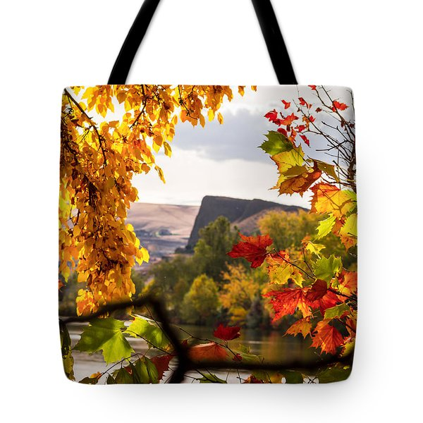 Swallow's Nest In The Fall Tote Bag by Brad Stinson