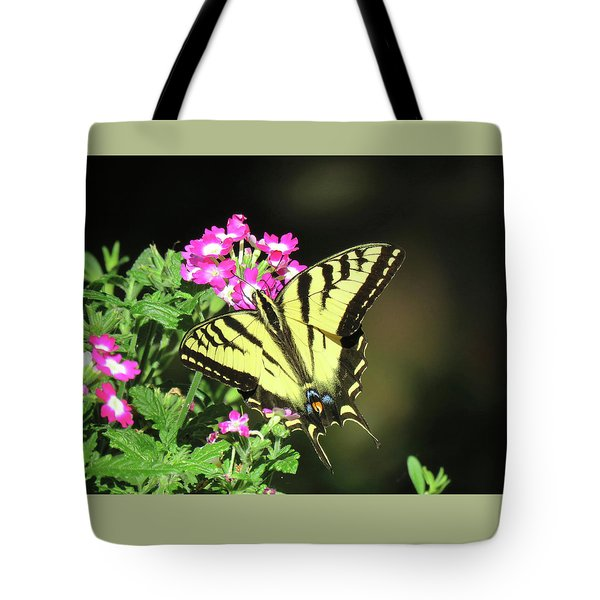 Swallowtail In The Garden 1 - Visions Of Spring Tote Bag by Brooks Garten Hauschild
