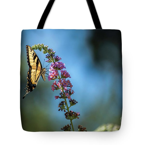 Tote Bag featuring the photograph Swallowtail Lookout by Judy Wolinsky