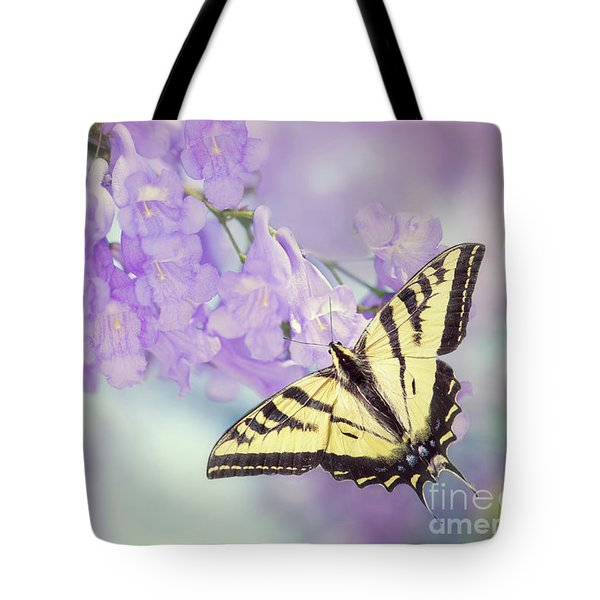 Swallowtail On Purple Flowers Tote Bag