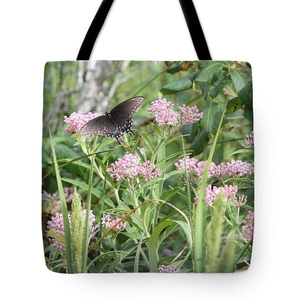 Swallowtail On Swamp Milkweed Tote Bag