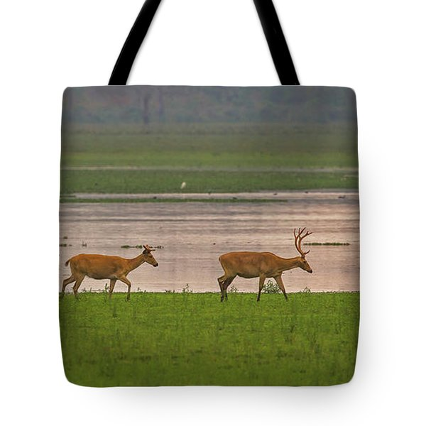 Swamp Deers Tote Bag
