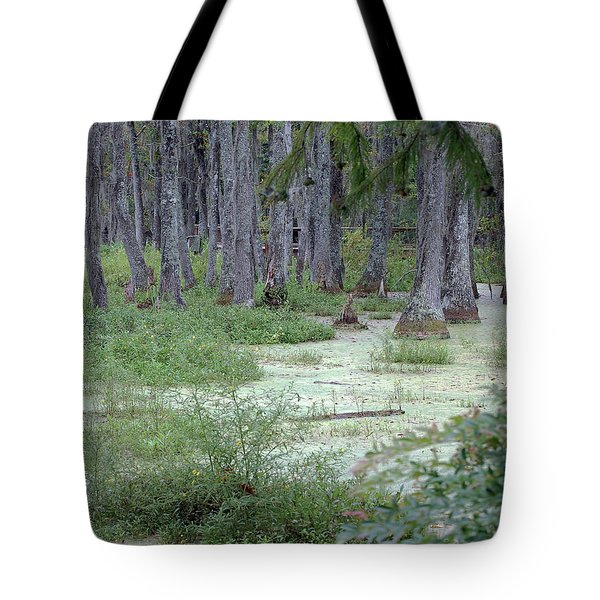 Swamp Garden At Magnolia Plantation And Gardens Tote Bag