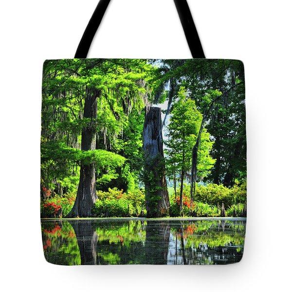 Swamp In Bloom Signed Tote Bag