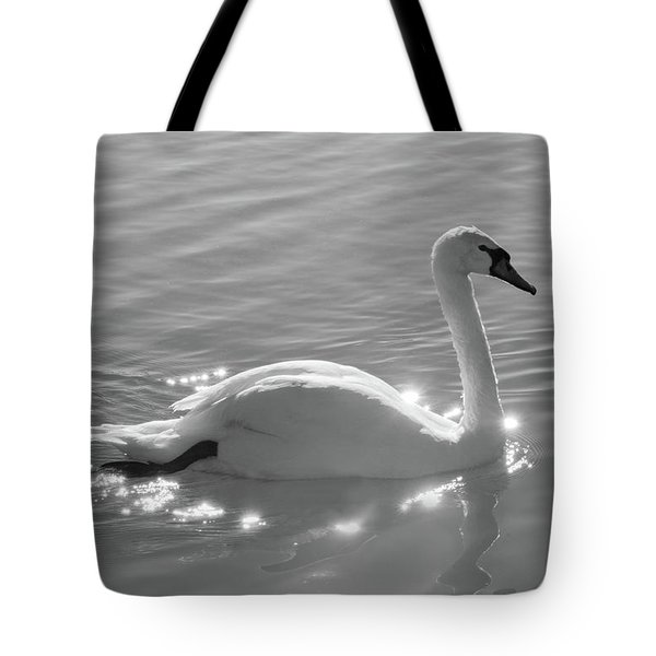 Swan Bathed In Light Tote Bag