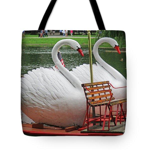 Swan Boat Boston Common Tote Bag