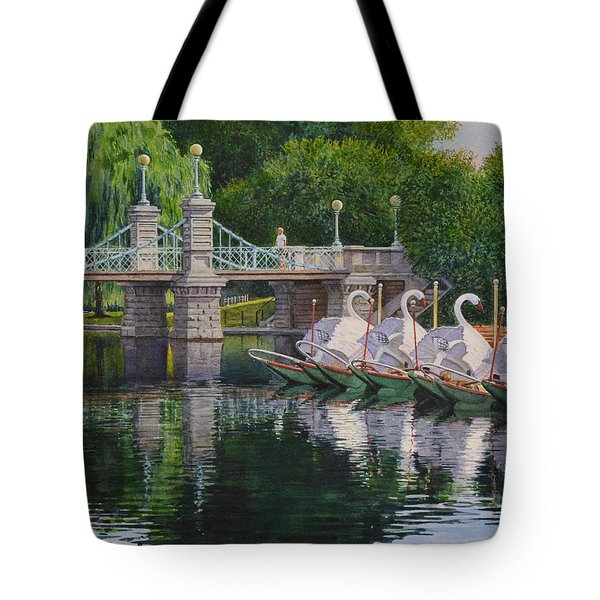 Swan Boats Boston Common Tote Bag