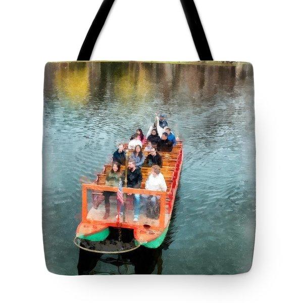 Swan Boats Boston Public Gardens Tote Bag