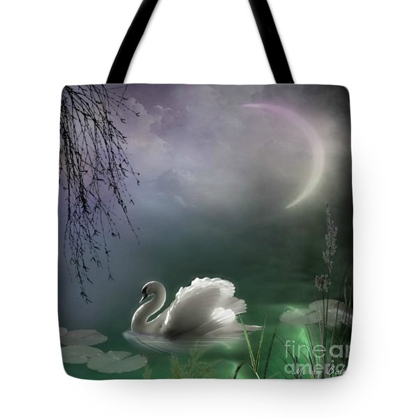 Swan By Moonlight Tote Bag