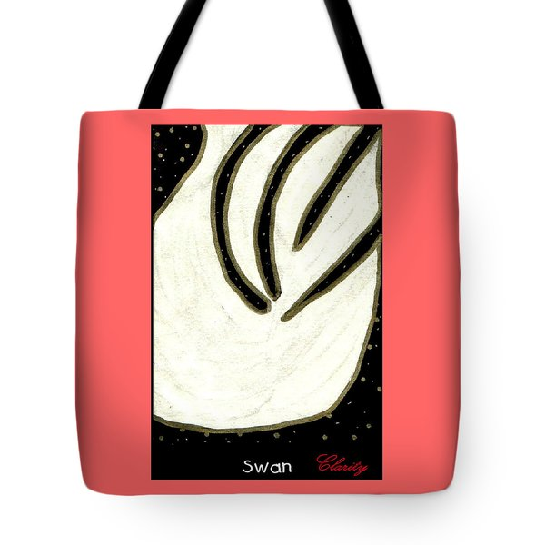 Tote Bag featuring the painting Swan by Clarity Artists