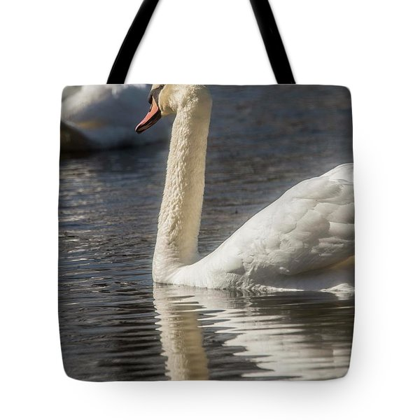 Tote Bag featuring the photograph Swan by David Bearden