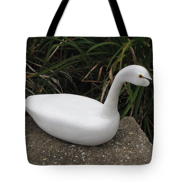 Tote Bag featuring the sculpture Swan-derful by Kevin F Heuman