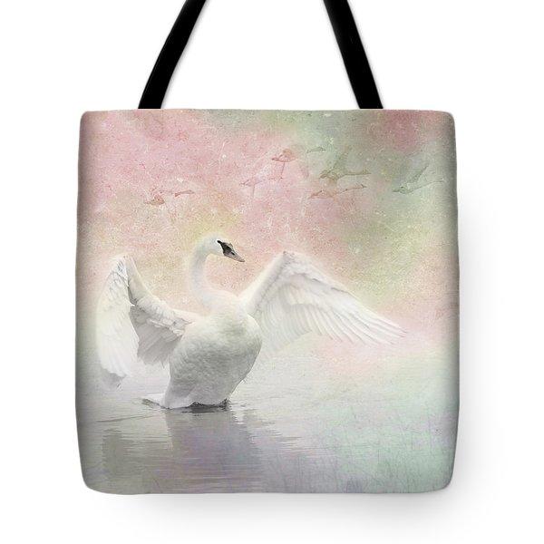 Swan Dream - Display Spring Pastel Colors Tote Bag