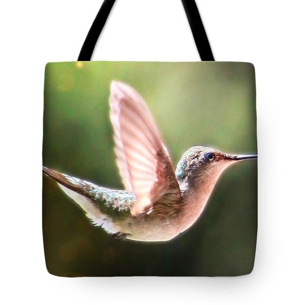 Swan Dive Hummingbird Tote Bag